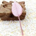 Rose leaf, Artificial fibers and wires, pink, 11cm x 3cm [approximate], 10 pieces, [ST1095]